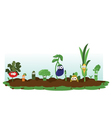 Funny Veggie Garden vector image