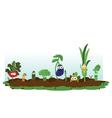 Funny Veggie Garden vector image vector image