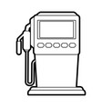 gasoline fuel machine vector image