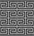 geometric black and white mosaic seamless pattern vector image