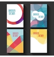 Geometric business templates for brochure flyer vector image