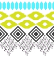 Geometric ethnic border pattern Ikat rhombus and vector image vector image