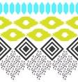 Geometric ethnic border pattern Ikat rhombus and vector image vector image