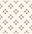 geometric seamless pattern with abstract cross vector image vector image