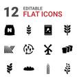 grain icons vector image vector image