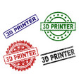 grunge textured 3d printer stamp seals vector image