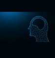human head and brain low poly icon organ vector image vector image