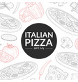 italian pizza hot and tasty banner template vector image vector image