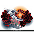 japanese tattoo landscape vector image vector image