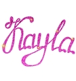 kayla name lettering tinsels vector image vector image