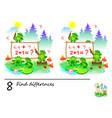 logic puzzle game for children need to find 8 vector image vector image