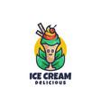 logo ice cream cartoon cute style vector image