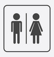 man and woman icon on white background modern vector image vector image