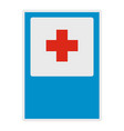 medical red cross icon flat style vector image