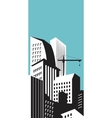 Modern skyscrapers in business district vector image