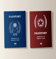 Passport set vector image vector image