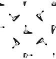 prosthetic leg pattern seamless black vector image vector image