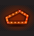 retro show time pentagon frame signs realistic vector image vector image