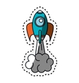 rocket start up isolated icon vector image vector image