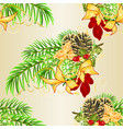 seamless texture christmas tree and pine cones vector image vector image