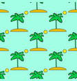 seamless tropical pattern depicting palm vector image vector image