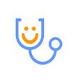 smile medical stethoscope logo icon vector image