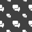Speech bubble Think cloud icon sign Seamless vector image vector image