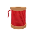 Spool of red thread for sewing cartoon icon vector image vector image