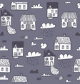 spring town seamless pattern vector image vector image
