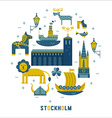 Stockholm icons in the form of circle vector image vector image