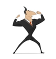 Strong businessman concept vector image vector image