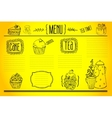 tea and sweets - doodles collection vector image vector image