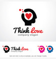think love new logo template vector image vector image