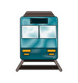 train frowntview symbol vector image vector image