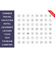 travel vacation journey icon set vector image vector image