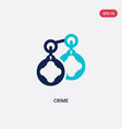 two color crime icon from cyber concept isolated vector image vector image