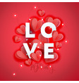 valentine s day greeting card template poster vector image vector image