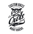 vintage bikers club t-shirt vector image vector image