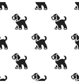 Walking the dog icon in black style for web vector image vector image