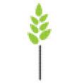 wheat ear halftone icon vector image
