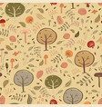 woodland forest seamless pattern design vector image vector image