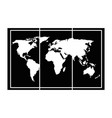 world map paper icon vector image