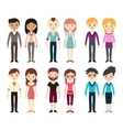 Collection of different men and women vector image