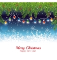 merry christmas happy new year garland lights vector image