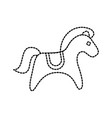 wooden toy horse animal traditional object vector image
