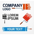 Paint roller logo vector image