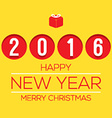 2016 Flat Design New Year Card vector image vector image