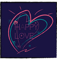 a background hearts painted in different color vector image vector image