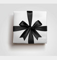 a black gift box bow 3d style vector image vector image