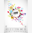 abstract music festival advertising poster vector image